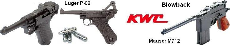 KWC Luger P-08 и Mauser M71