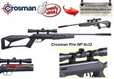Crosman Fire NP 4х32 - Crosman Fire NP 4х32 пневматическая винтовка. Пневматическая винтовка с газовой пружиной Crosman Fire NP 4х32 укомплектована оптическим прицелом center point 4х32.