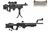Hatsan BARRAGE - Hatsan BARRAGE Пневматическая винтовка PCP Калибр 4,5 мм (.177). Скорость вылета пули: 320 м/с Дульная энергия:  27 Дж Выстрелов с заправки: до 100 Длина: 1040 мм Длина ствола: 500 мм Вес: 4,62 кг 14ти - зарядная система. Тип: ПСП (пневматика с